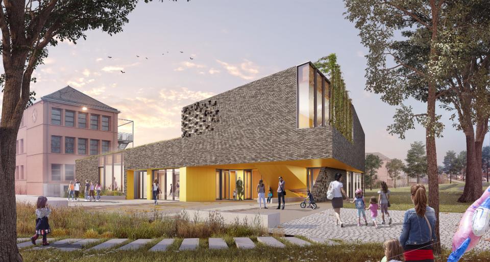 Centre socioculturel au Port du Rhin à Strasbourg (67)