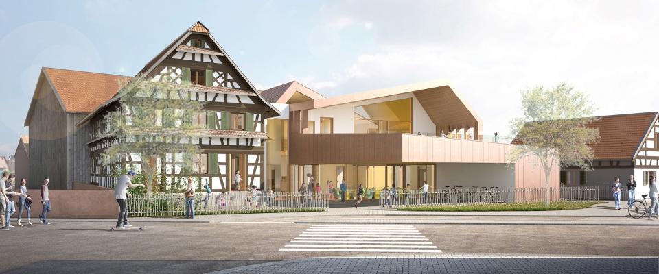 Centre périscolaire et associatif à Fegersheim
